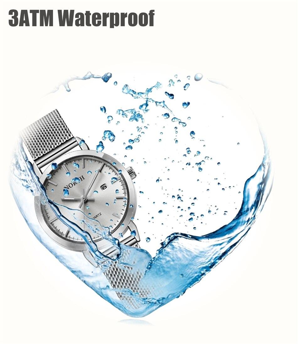 cheio data quartzo relógio feminino à prova