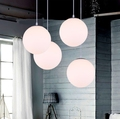 Led lighting modern brief lighting lamps milky white ball lights glass ball pendant light restaurant lamp CP143