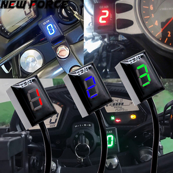 Motorcycle LCD Electronics 6 Speed 1-6 Level Gear Indicator Digital Gear Meter For Harley DAVIDSON 1200 Sportster Custom