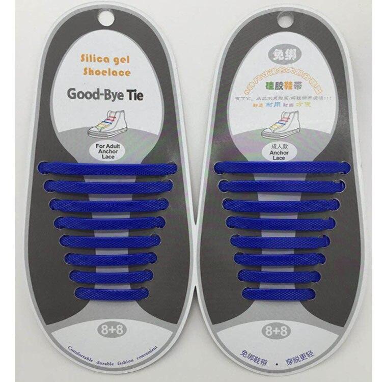 16pcs/lot Silicone Shoelaces Elastic Shoe Laces Special No Tie Shoelace For Men Women Lacing Rubber Zapatillas 13 Colors