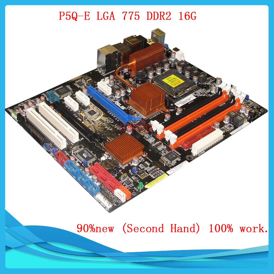 original Used Desktop motherboard For ASUS P5Q3 P45 Support Socket LGA 775 Maximum DDR2 16GB SATA2 USB2.0 ATX asus g31m s support ddr2 775 pin integrated small board g31m g31 motherboard