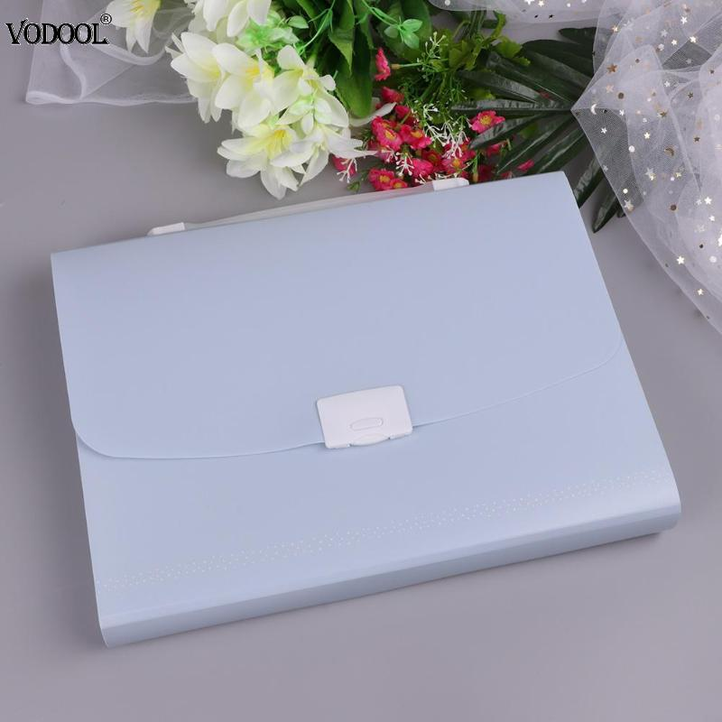 VODOOL A4 Portable File Folder Business Multi Layers Waterproof Document Bag Expanding Wallet Storage Desktop School Stationery simple plastic 5 section index band folder document file storage organizer filling stationery a4 size expanding wallet 4 colors