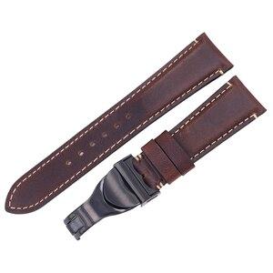 Image 4 - Rolamy Correa de reloj de cuero auténtico para Tudor Seiko Omega, repuesto duradero de 20mm y 22mm