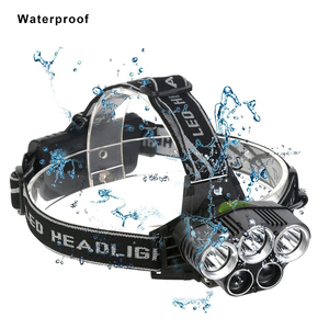 Image 3 - USB נטענת LED פנס 5 לבן אור או 3 לבן + 2 bule אור עמיד למים led פנס דיג מנורת שימוש 18650 סוללה