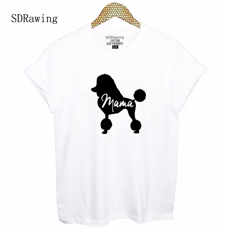 Dog Mom Shirt Poodle Gifts For Dog Owner Mothers Day T Shirt Pet Lover Tops Dog Lover Mommy Clothes Animal Lover Ladies Tees