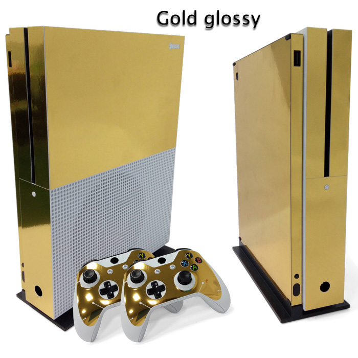 Gold Glossy Skin Sticker For Xbox One Console Controller
