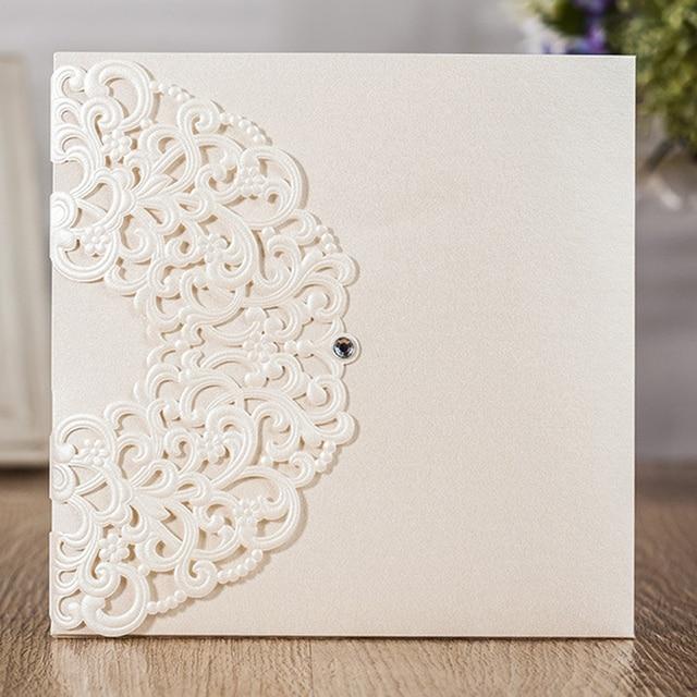 Luxury Printing Embossed Wedding Invitation Cards, Laser Cut