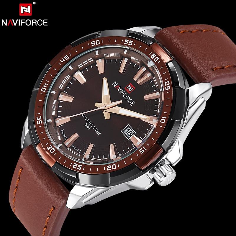 NAVIFORCE Original Brand Military Army Quartz Watch Men Analog Men's Clock Waterproof Wristwatches Relogio Masculino
