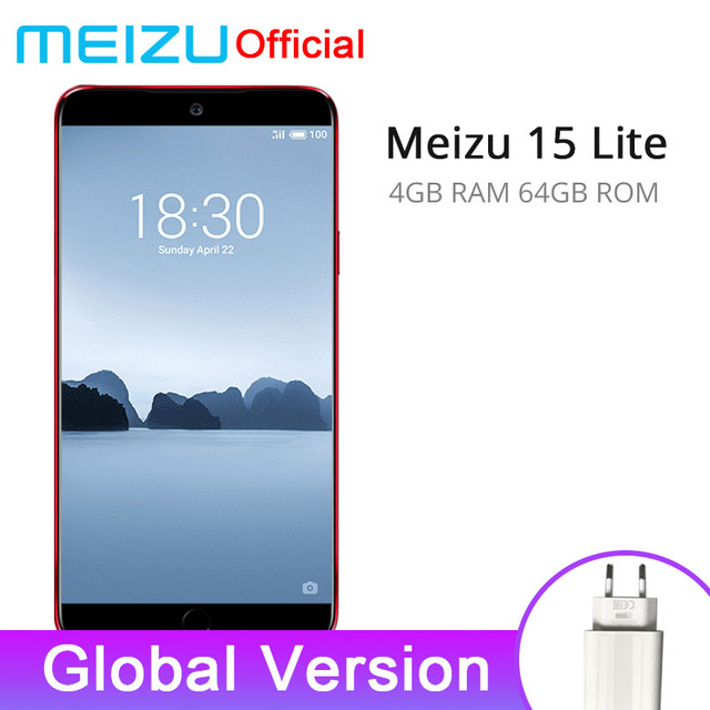 "Global Version Meizu 15 Lite 4GB 64GB smartphone Snapdragon 626 5.46"" 1920x1080P 3000mAh Battery Fingerprint"