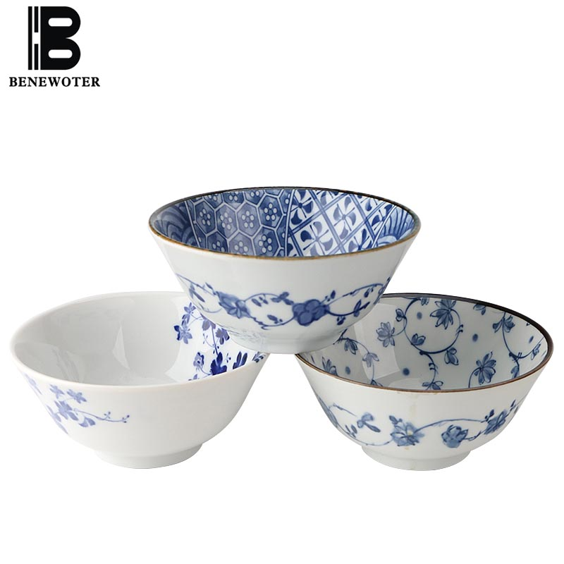 US $14.88 35% OFF|Beautiful Blue and White Porcelain Tableware Ceramic Bowl  Underglaze Dinnerware Ramen Bowl Soup Bowls Kitchen Accessories Crafts-in  ...