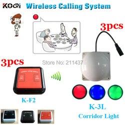 Gość stronicowania systemu K-F2 100% wodoodporna brzęczyk dla klienta w przedziale  w którym i K-3L korytarz światła dla kelnera w korytarz