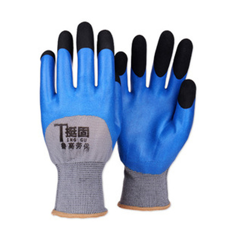 Hand Protection Gloves Reusable Coated Gloves For Builders Non Slip Latex Work Gloves Garden Mechanical Miner Industrial Gloves