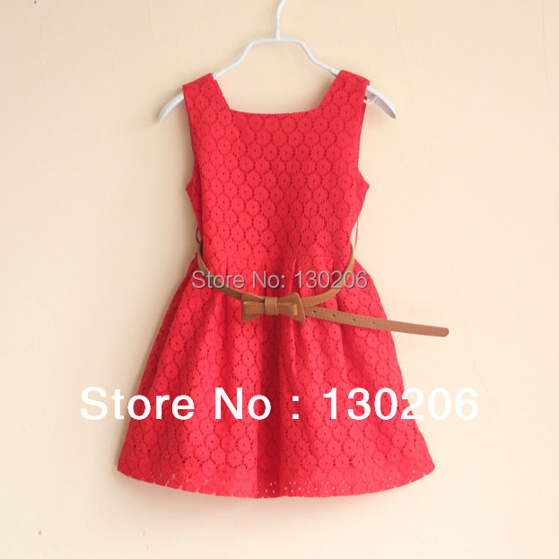 Girls lace dress new spring and summer fashion style baby kids children dress red white beautiful sundress 2017 summer new children clothes girls beautiful lace dress quality white baby girls dress teenager kids dress for age 2 12