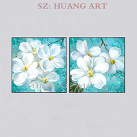Combining modern abstract oil painting on the canvas Great Wall picture 2 p white and red flowers impression study the study hal