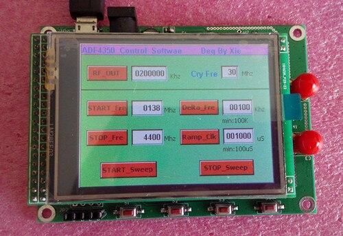 จัดส่งฟรี ADF4350 ADF4351 โมดูล TFT หน้าจอสัมผัสสี STM32 กวาดความถี่สัญญาณ