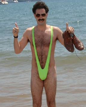 Green Borat Mankini Thong Lingerie Fancy Dress Men Panty