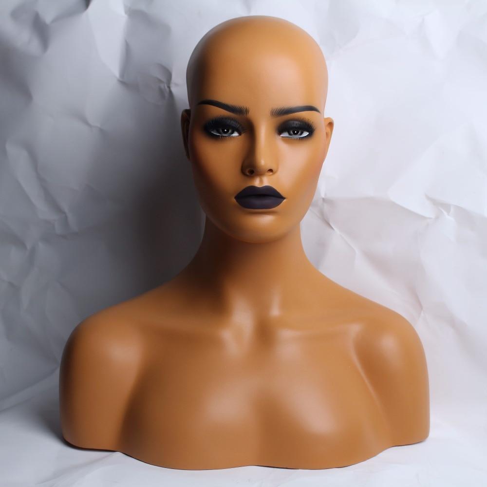 Femelle Réaliste En Fiber De Verre Mannequin Tête Buste Vente Pour Perruque Bijoux Et Chapeau Affichage