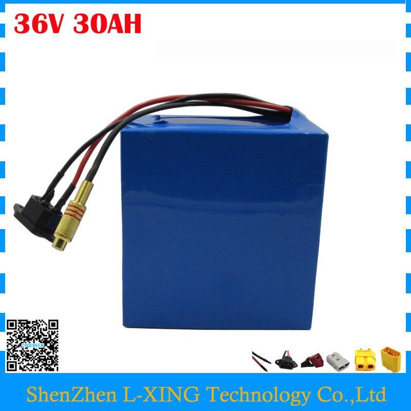 UE US aucun impôt 1500 W 36 V batterie li-ion pack 36 V 30AH batterie de scooter électrique avec PVC Cas utiliser NCR18650PF cellulaire avec 5A Chargeur