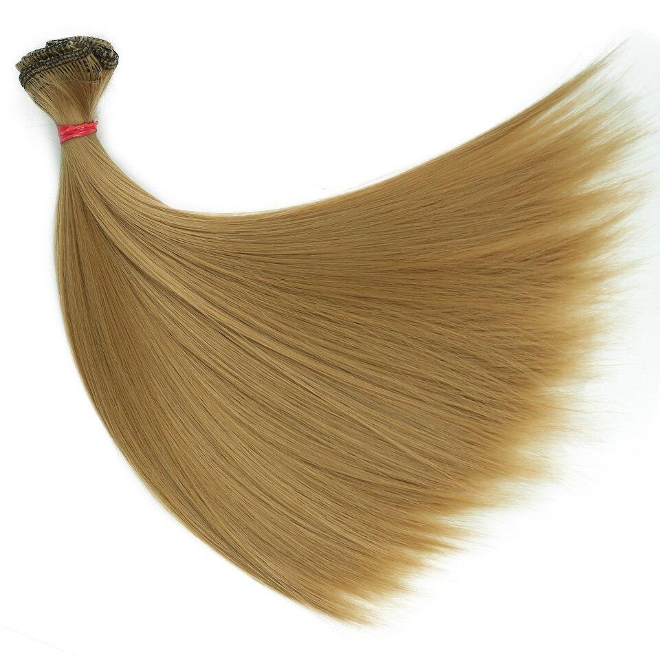 Bybrana 15 см * 100 см и 25 см * 100 см длинные прямые высокие температура волокно BJD SD Искусственные парики DIY волос для куклы Бесплатная доставка