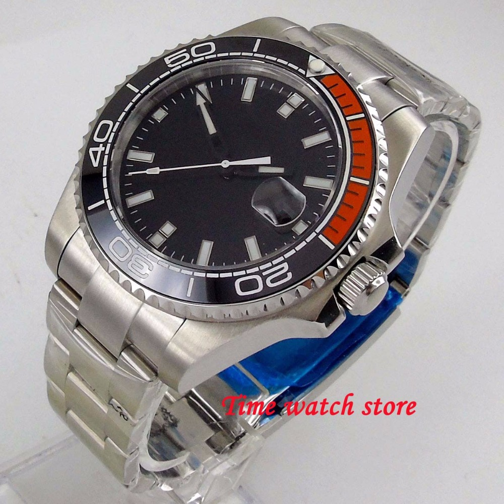 43mm black no logo dial sapphire glass ceramic bezel 21 jewels Miyota 8215 Automatic movement wrist watch mens watch 18443mm black no logo dial sapphire glass ceramic bezel 21 jewels Miyota 8215 Automatic movement wrist watch mens watch 184