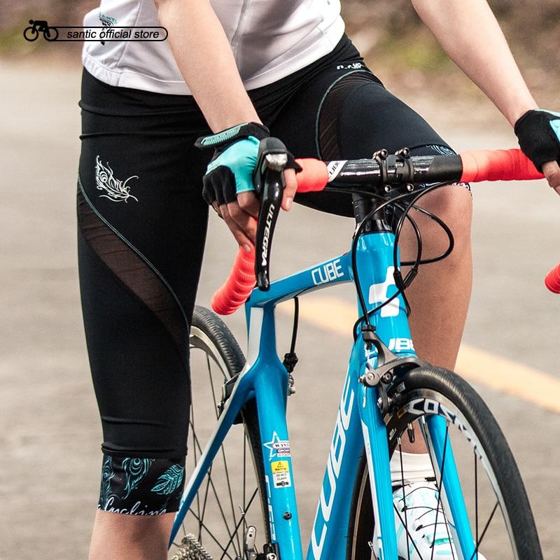 Santic Women Cycling Padded Shorts 3 5 Pro Coolmax 4D Padding Special Design Bike MTB Shorts