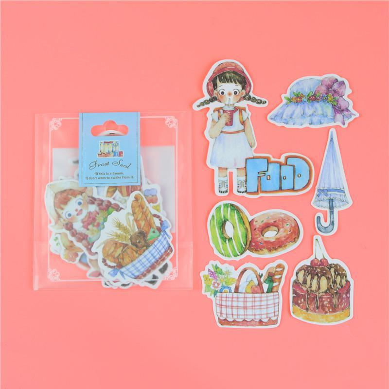 1 пакет, милые Мультяшные декоративные наклейки в Корейском стиле, клейкие наклейки, скрапбукинг, сделай сам, декоративные наклейки для дневника - Цвет: N