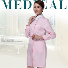 Autumn and winter thickening long-sleeve nurse clothing Women Pink Green coat Hospital Medical work uniform