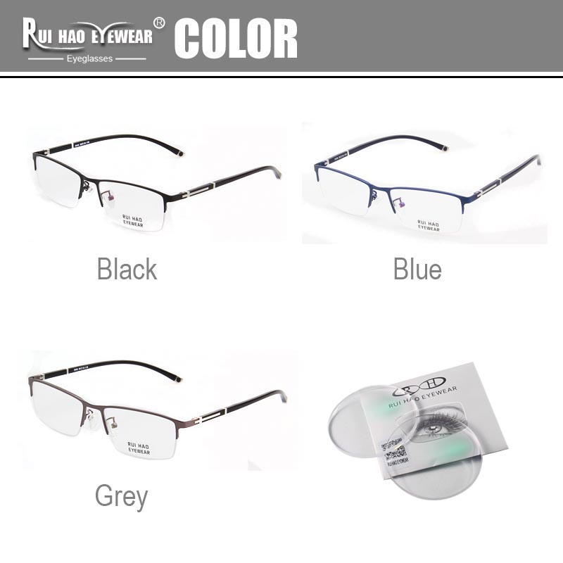 Image 3 - Customize Prescription Glasses Progressive Spectacles Single Vision Glasses CR39 Resin Lenses Fashion Optical Eyeglasses-in Men's Prescription Glasses from Apparel Accessories