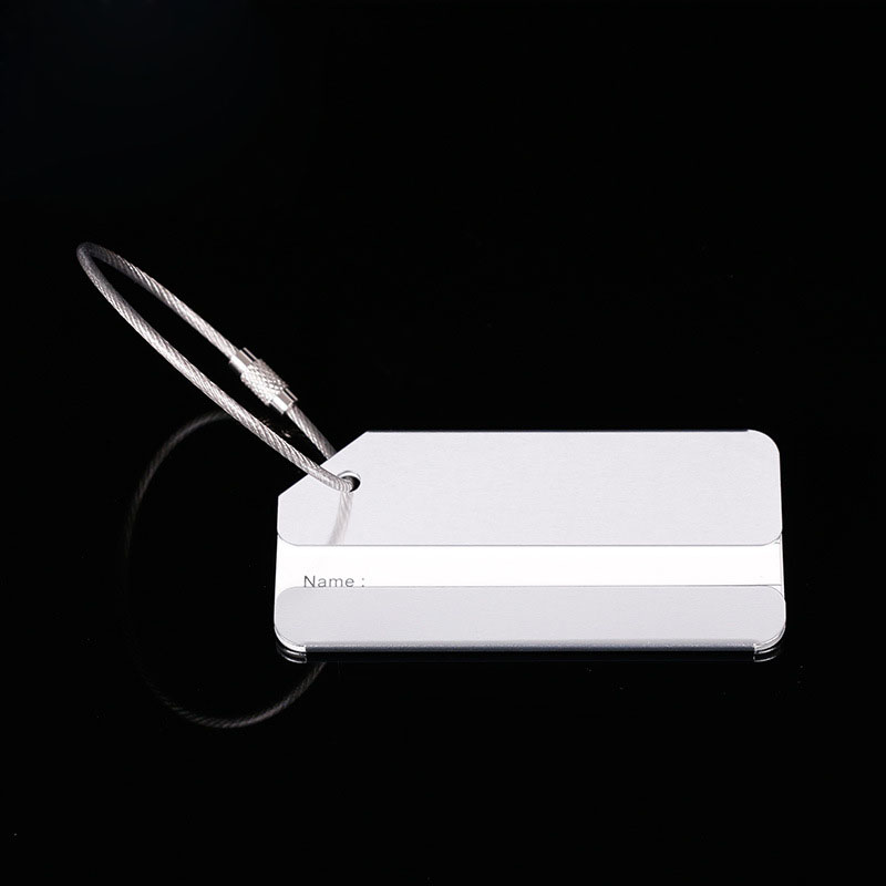 OKOKC багажные бирки из алюминиевого сплава, багажные бирки, ярлыки для багажа, аксессуары для путешествий - Цвет: White