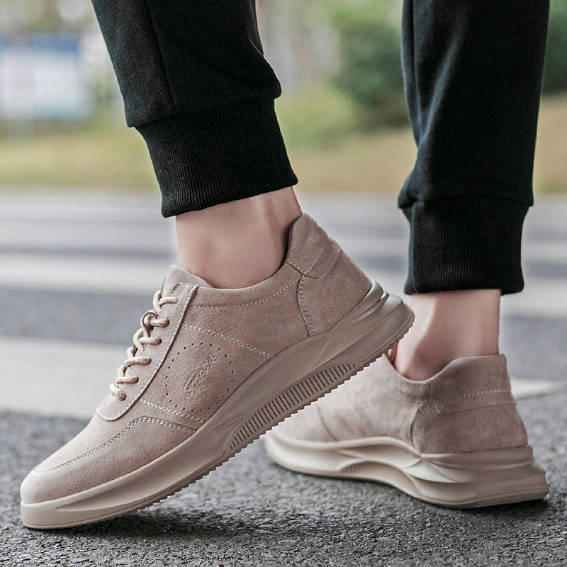 2019 New Trend Men's Casual Shoes Pigskin Comfortable Upper Rubber Non-slip Wear Sole Men Leather Sn