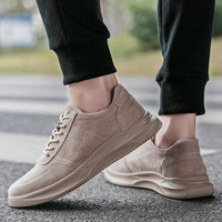 2019 New Trend Men's Casual Shoes Pigskin Comfortable Upper Rubber Non slip Wear Sole Men Leather Sneakers Zapatos Shoes Zdrd