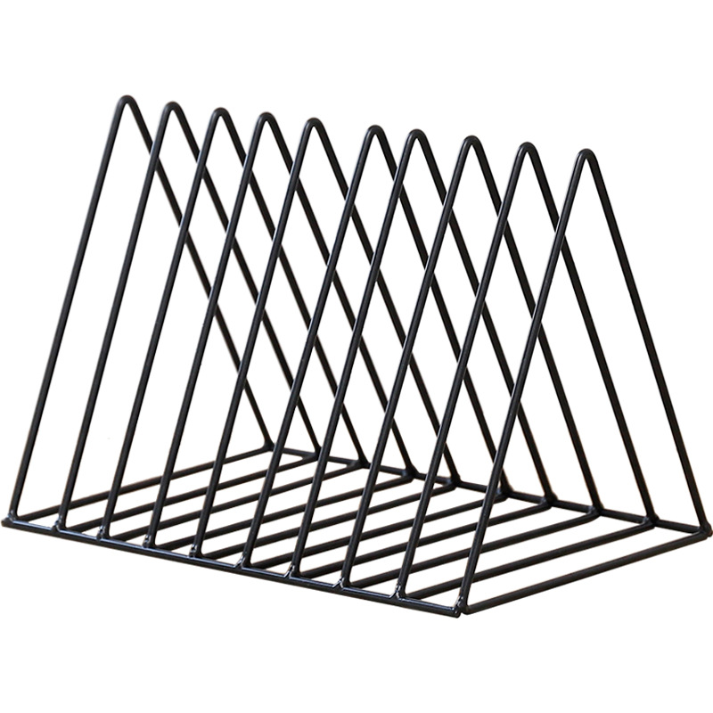 Quality Bookshelf Iron Geometry Newspapers And Magazines Storage Rack Home Decor Shelf
