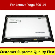 14'' LCD Touch Screen Digitizer with Frame Laptop Assembly For Lenovo Yoga 500-14IBD 80N4 80N5 500-14ISK 80R5(China)