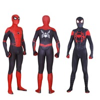 New Spider Man Far From Home Cosplay Costumes Peter Parker Zentai Suit Bodysuit Adult Kids Spiderman Superhero Ball Jumpsuits