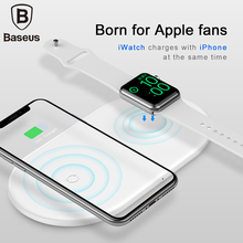 Baseus 2 in 1 QI Wireless Charger For iPhone X XS Max XR Apple Watch 4 3 Quick Charge 3.0 Charging Pad Fast