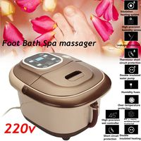 LCD 500W 220V Foot Bath Spa Infrared Therapy Massager Flame Retardant Insulation Oxygen Bubble
