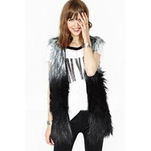snowshine4 #3022  High quality Fur Vest coat Luxury Faux Fox Warm Women Coat Vests 2016 Winter Fashion furs 1