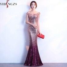 גלימת דה Soiree YIDINGZS שמלת ערב ארוך Sparkle חדש נשים אלגנטי נצנצים בת ים מקסי ערב מסיבת שמלת YD199