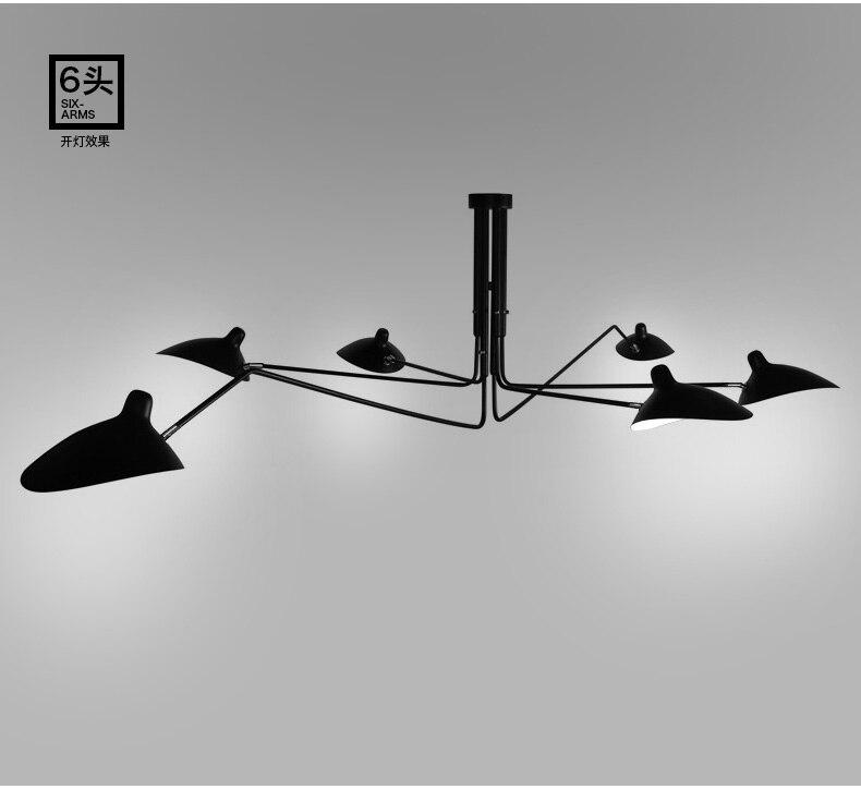 Retro Industriellen Loft Nordic Eisen Deckenleuchte Wohnzimmer Kreative Knstlerische Persnlichkeit Lampenschirm Spinne Deckenl