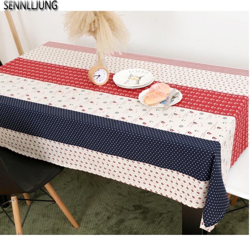 SENNLLJUNG Cotton Table Cloth Tablecloth Rectangular Tablecloth For Table  Dining Table Cover Oilcloth Home Decor Toalha De Mesa