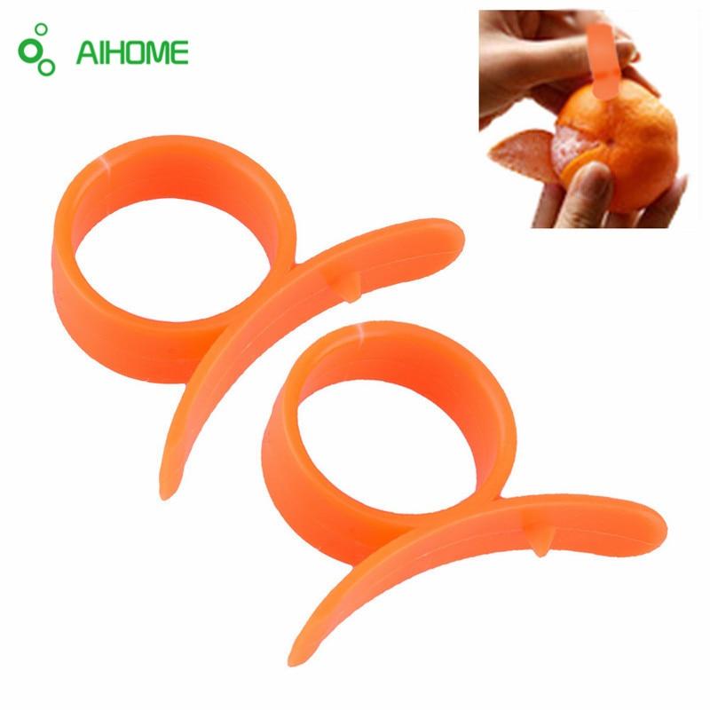 10Pcs/Set Kitchen Gadgets Cooking Tools Orange Peeler Parer Finger Type  Opener Orange Peel Orange