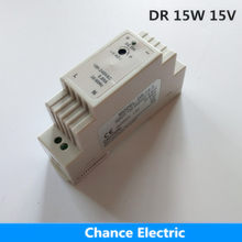 Din rail mount Industry Switching mode Power Supply DR 15W 15V for cnc led light Direct Selling(DR-15-15V)(China)