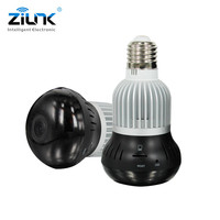ZILNK 360 Degree Full View Panoramic WIFI Lamp Camera 960P HD FishEye Lens 1 3MP Mini
