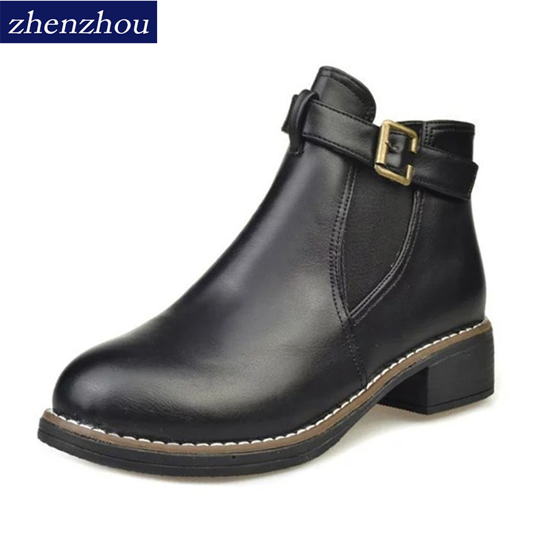 Boots 2017 The new winter Martin British wind women shoes boots Fashion leaders leisure Short with exemption from postage ...