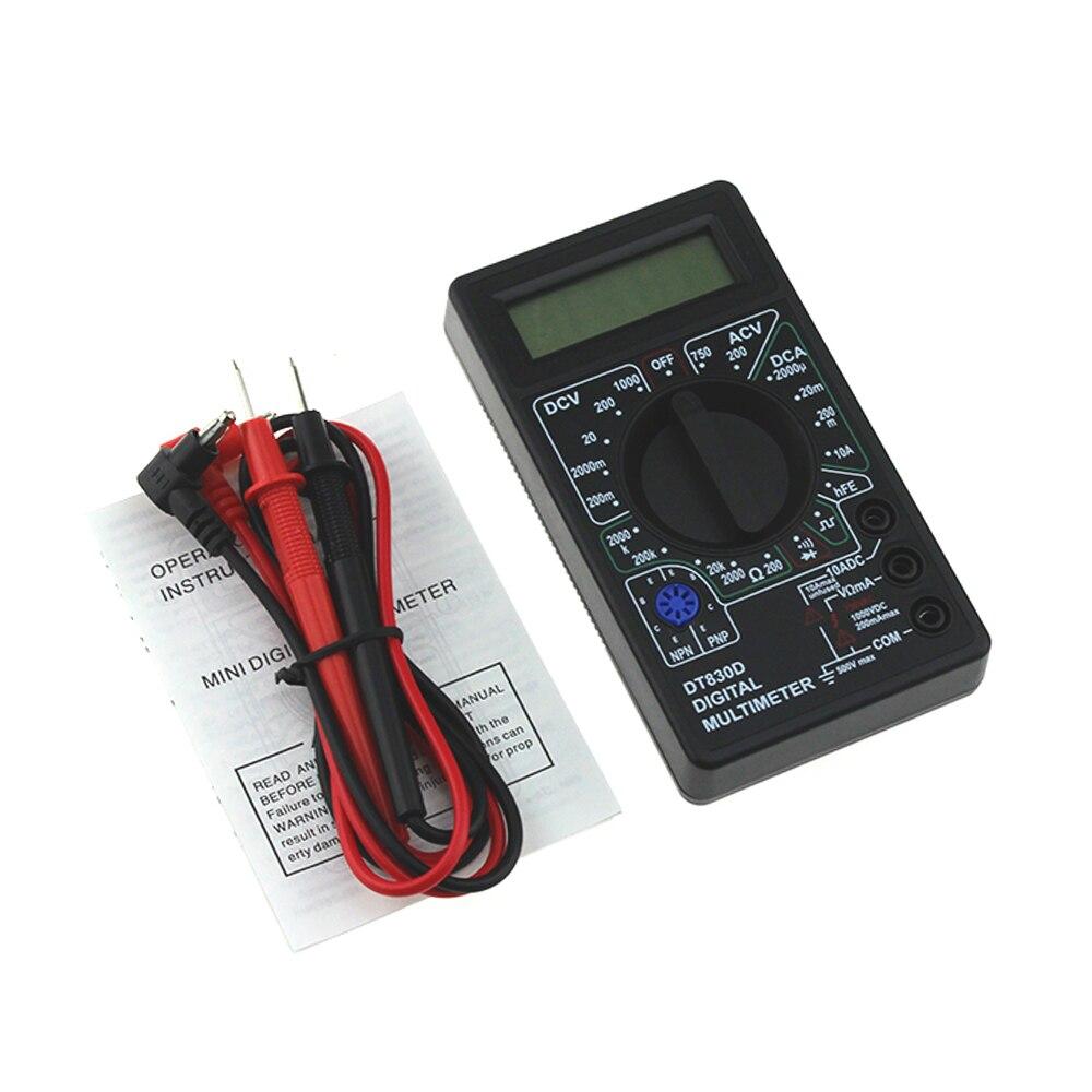 DT830D Mini font b Digital b font font b Multimeter b font voltmeter Voltage Ampere Ohm