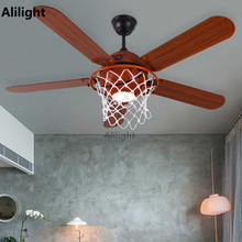 Buy ceiling lights with fans and get free shipping on aliexpress hoallme modern led basketball creative decor with lights remote control bar mozeypictures Images
