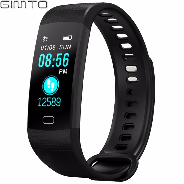 GIMTO Smart Bracelet Men Women Sport Watch Digital Waterproof Clock Heart Rate Blood Pressure Intelligent For Android iOS 2018 gimto smart bracelet men watches sport watch digital waterproof wristband heart rate sleep monitoring for android ios clock men