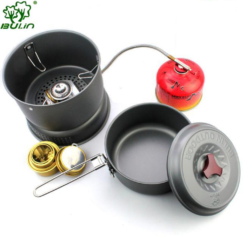 Bulin Camping Stove  Cooking pot Alcohol Stove BL100-Q1 bulin bl100 b5 outdoor camping foldable split gas stove