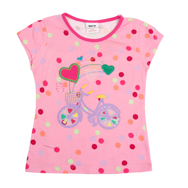 Girl t shirt novatx brand 2017 cute baby girl t shirt for Cute summer t shirts