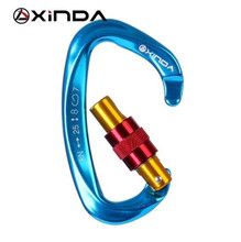 XINDA Professional 25KN Carabiner Master Lock D Shape Screw Gates Climbing Rock Mountaineer Outdoor Equipment